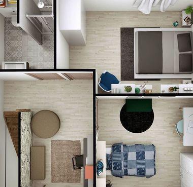 Plan 3D étage