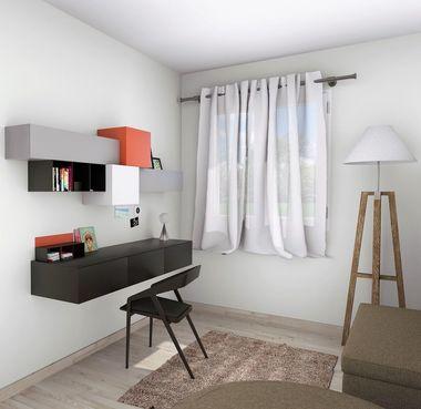 Vue 3D étage  bureau