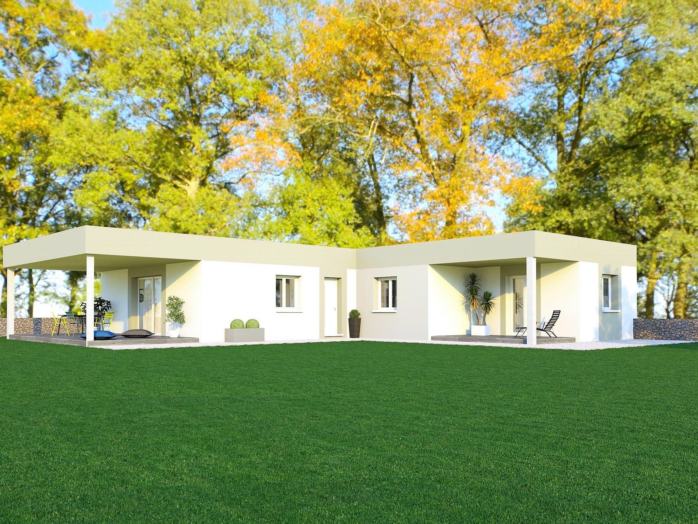 Maison moderne toit plat 130 m²