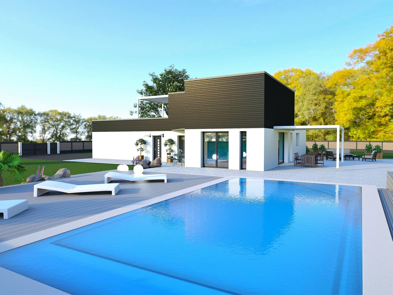 Maison moderne avec toit terrasse